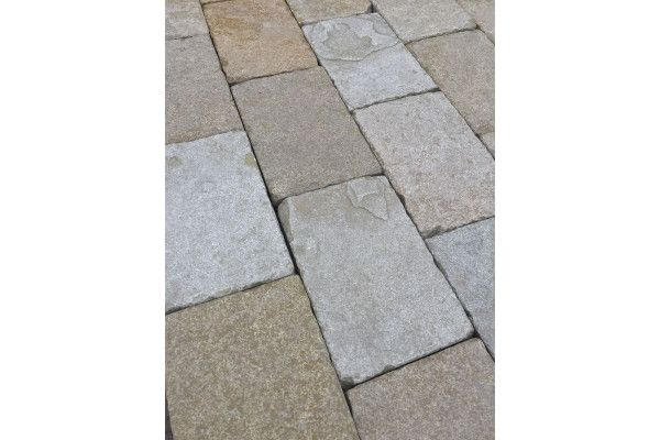 Castacrete - Indian Limestone - Sawn Block Paving - Sandur Yellow