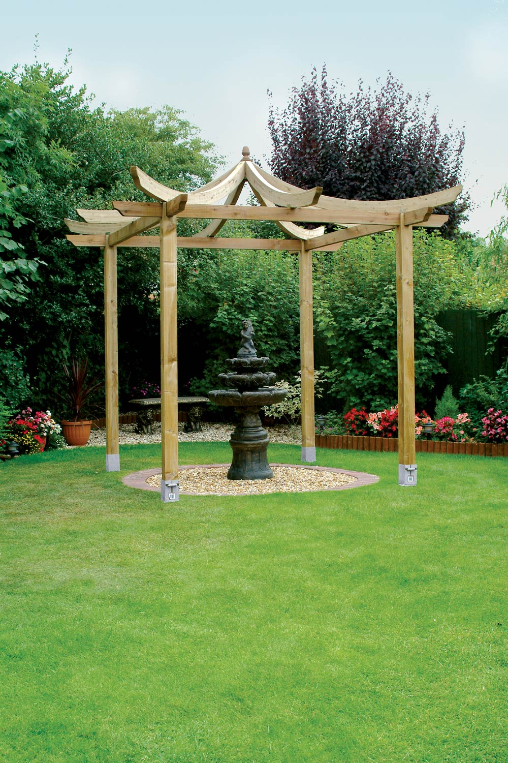 japanese pergola buy garden features at. Black Bedroom Furniture Sets. Home Design Ideas