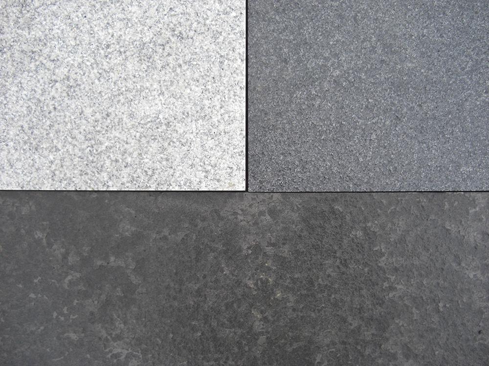 Hardstone Light Grey Granite Paving Slabs Mixed Size Patio Paving Pack