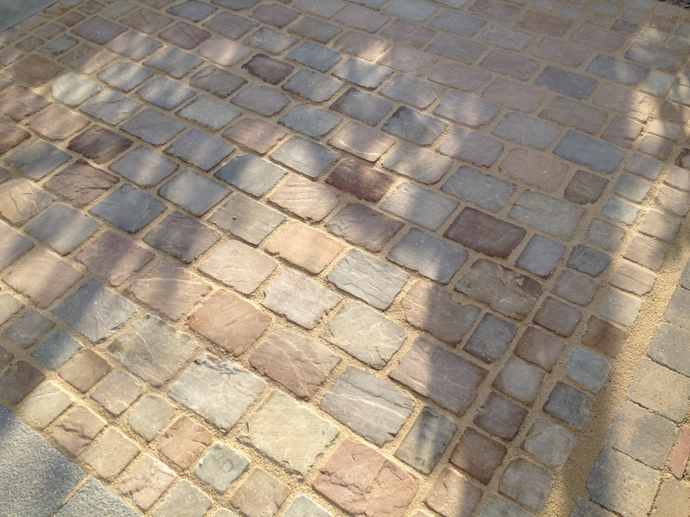 Tumbled Himalayan Driveway Cobbles Indian Sandstone Lsd