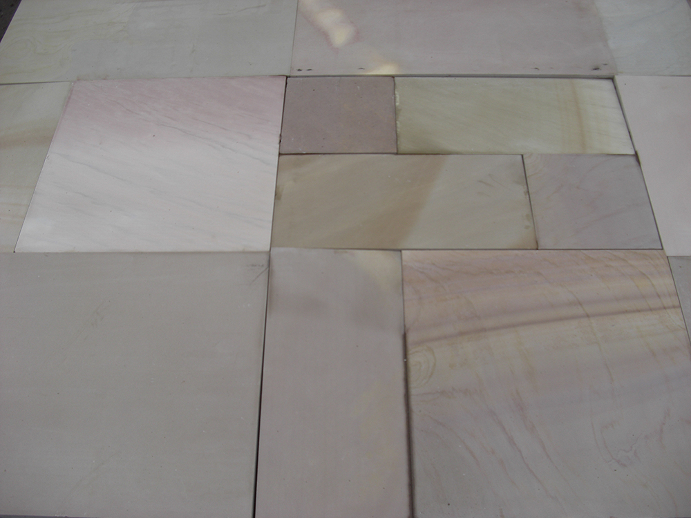 Polished Rippon Buff Patio Pack Indian Sandstone Paving