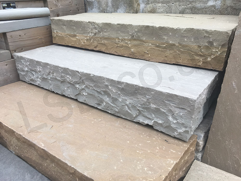 Kandla grey thick block steps indian sandstone 1000 x for How thick is granite