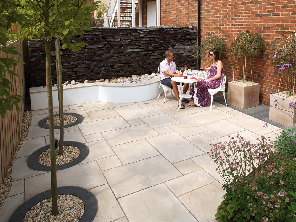 Marshalls Fairstone Sawn Natural Stone Paving Caramel