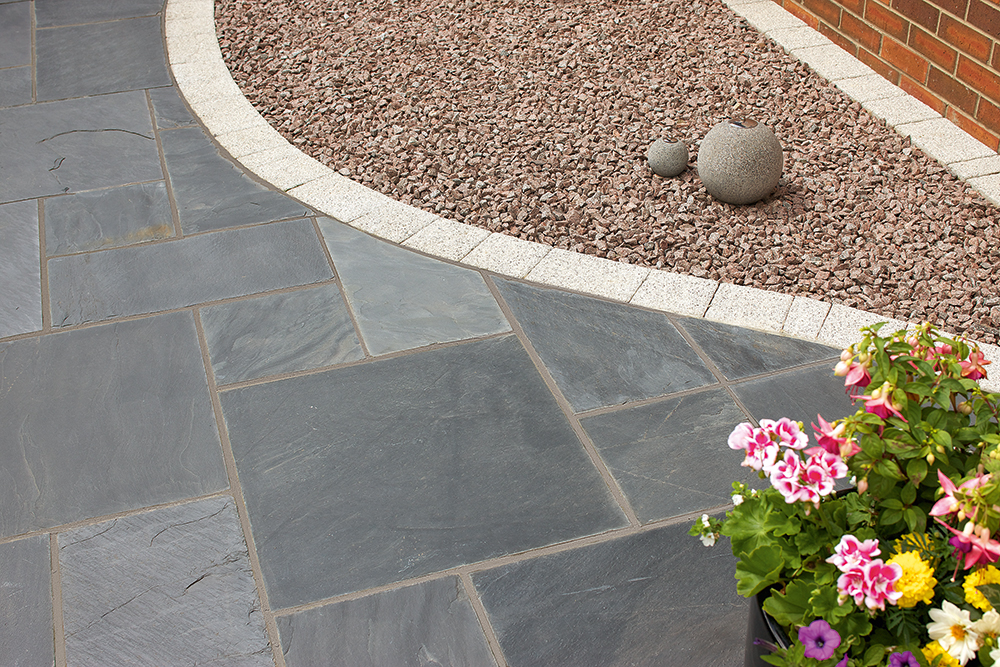 Natural Slate Paving Midnight Blue Project Pack