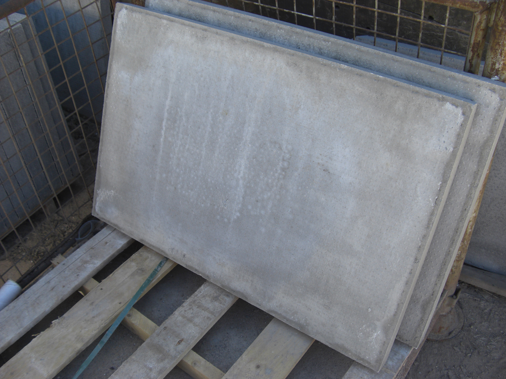 Decorative Cement Slabs : Council thick concrete paving slabs pressed grey lsd