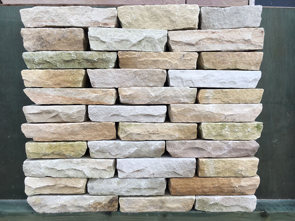 Mint Sandstone Walling Blocks Hand Cut Natural Sandstone