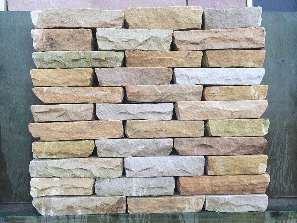Cut Sandstone Blocks : Mint sandstone walling blocks hand cut natural