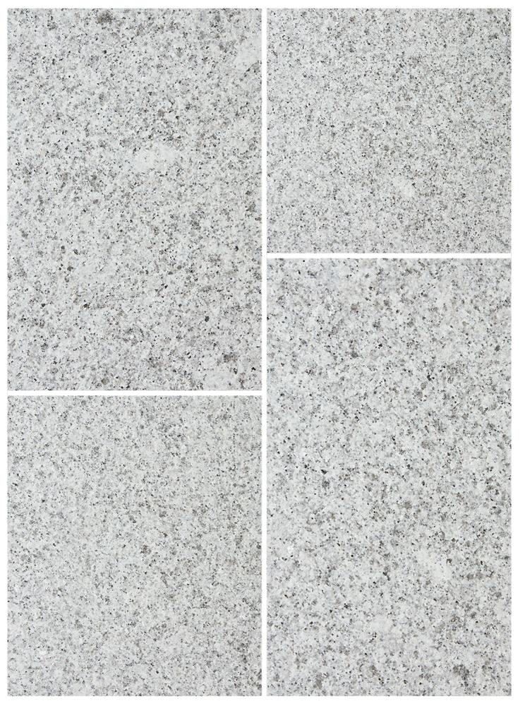 Bradstone Natural Granite Paving Silver Grey Single