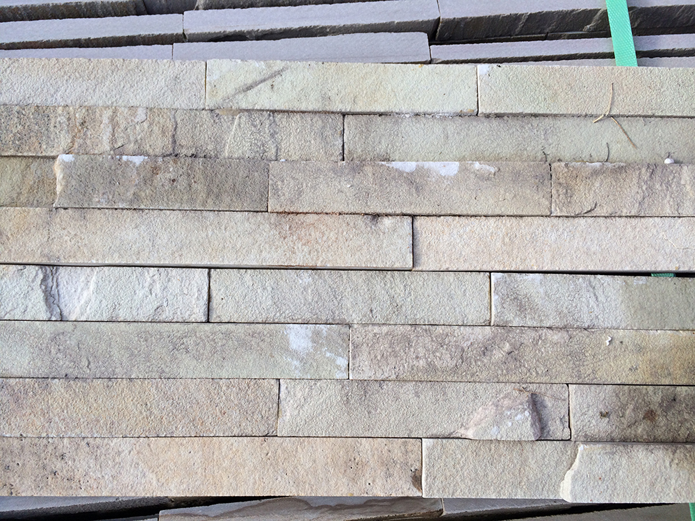 Natural Stone Cladding : Mint fossil sandstone wall cladding veneers fast