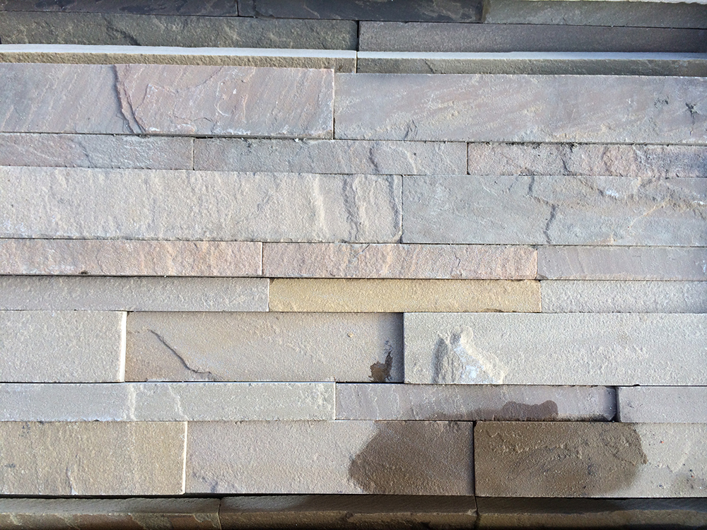 Natural Stone Cladding : Raj sandstone wall cladding veneers fast nationwide