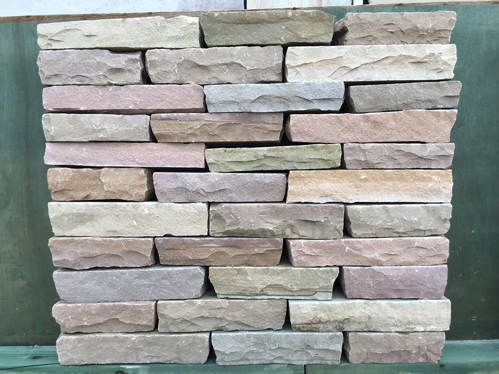 Raj Sandstone Walling Blocks Hand Cut Natural Sandstone