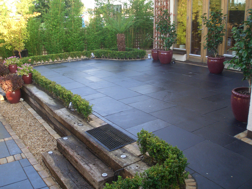 Strata stones whitchurch limestone collection black lime for Garden pond edging stones