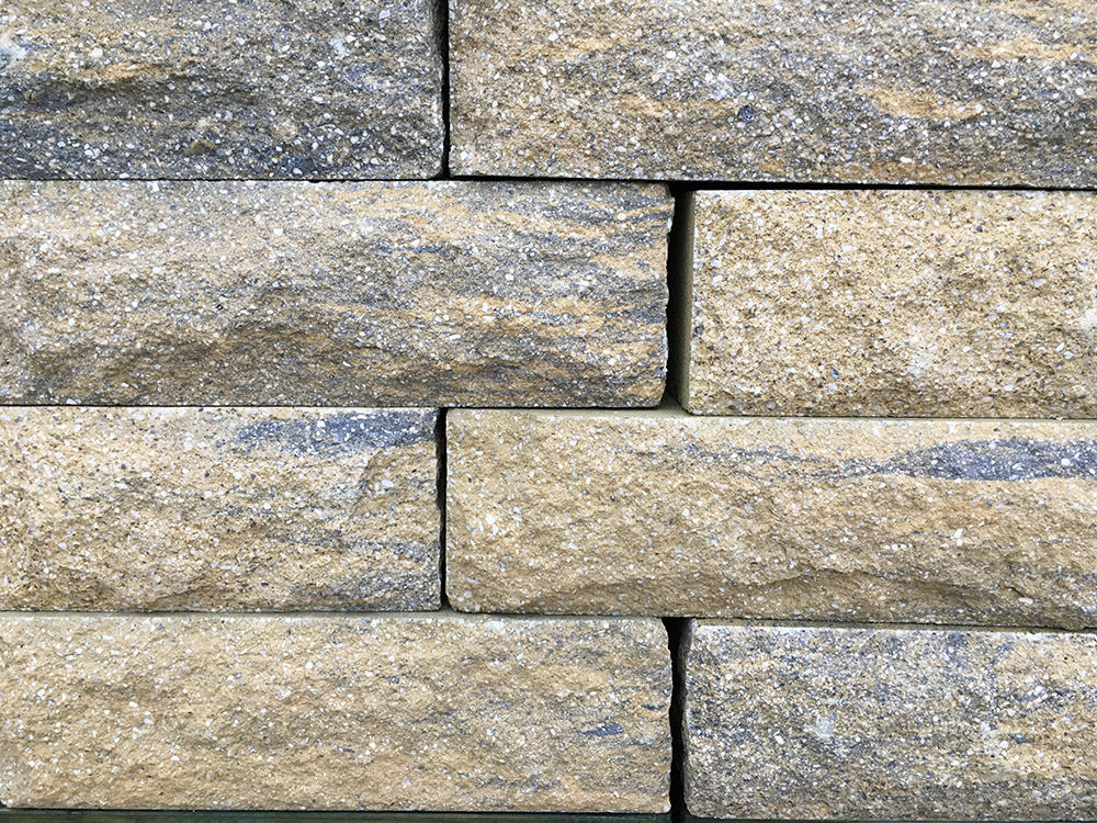 Stone Face Block : Weathered buff pitched face walling blocks lsd