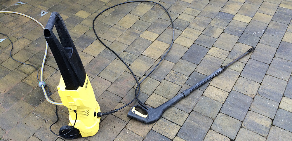 Yellow and Black water pressure washer